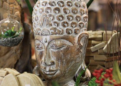 Buddhakopf aus Holz